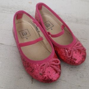 ❤GAP BABY GLITTER SHOES, SIZE INFANT/BABY GIRLS 6